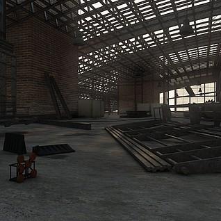 厂房建筑整体模型