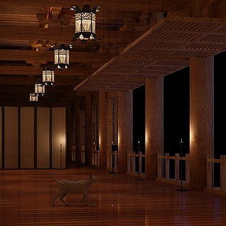 汉代走廊整体模型