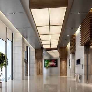 现代电梯整体模型