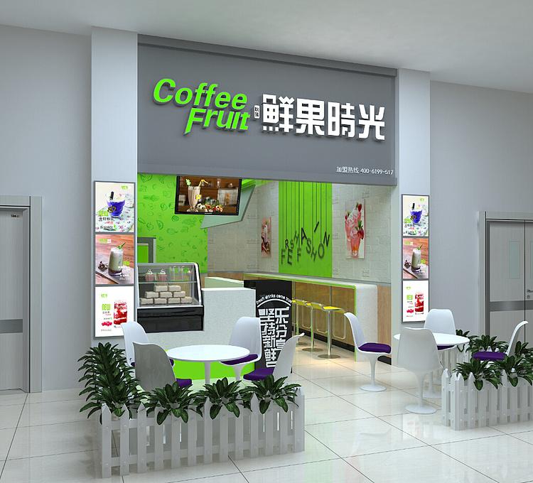饮品店模型