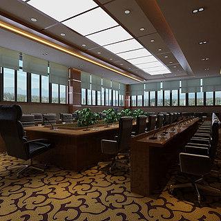 大气会议室整体模型