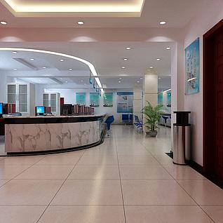 政府办公大厅整体模型