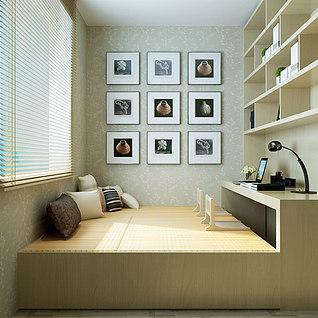 书房,单镜头整体模型
