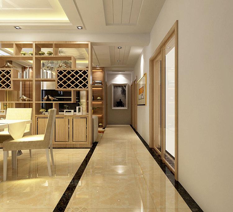 温馨现代客餐厅模型
