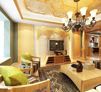 豪华东南亚客厅