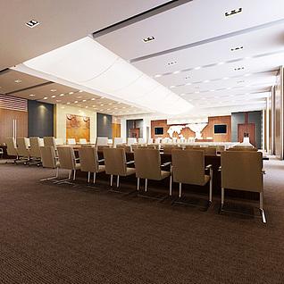 大型会议室整体模型