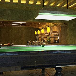 欧式酒吧整体模型