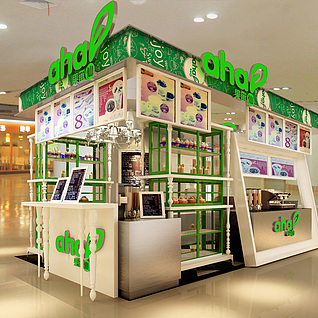 商场茶店整体模型