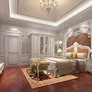 法式卧室整体模型