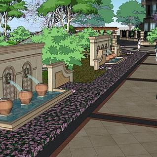 庭院景观整体模型