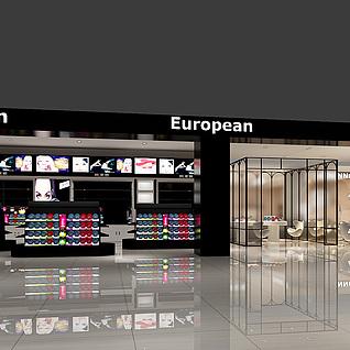 商场化妆品专卖店整体模型