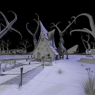 幽灵小屋整体模型