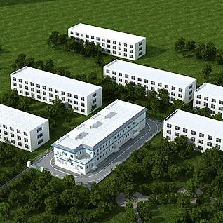 工厂3d模型