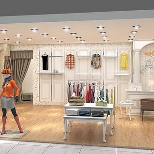 服装店(Corona渲染器渲染)整体模型