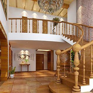 楼梯玄关整体模型