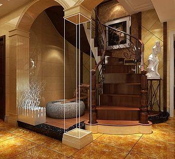 别墅楼梯间