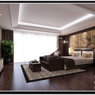 中式卧室整体模型
