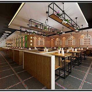 快餐店整体模型