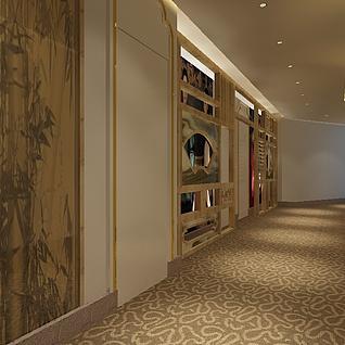 走道走廊整体模型