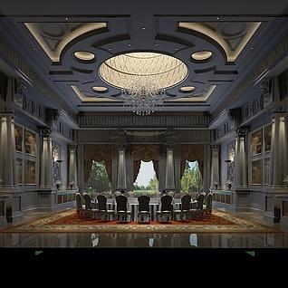 五星酒店整体模型