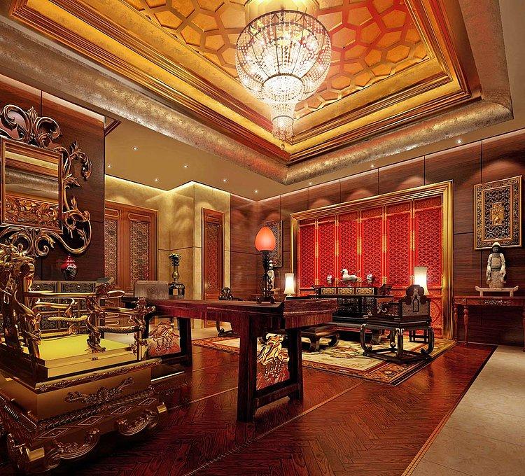 酒店豪华餐厅模型