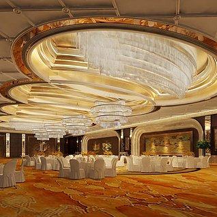 五星酒店宴会厅整体模型