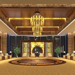 酒店会客厅整体模型