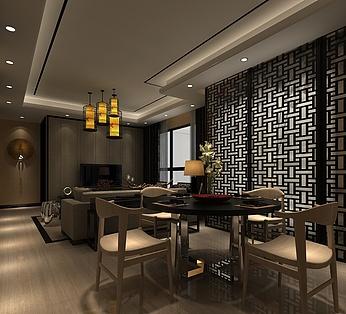 中式客厅餐厅