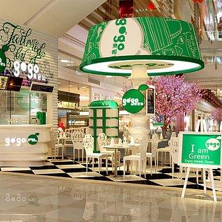 简欧创意餐厅整体模型