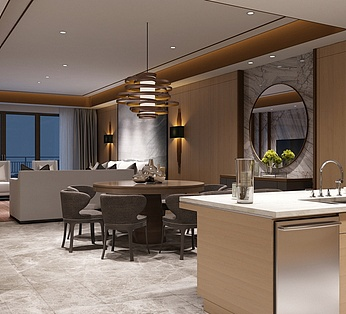 高精度后现代新中式客厅