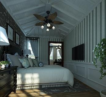 清晨苏醒中的卧室