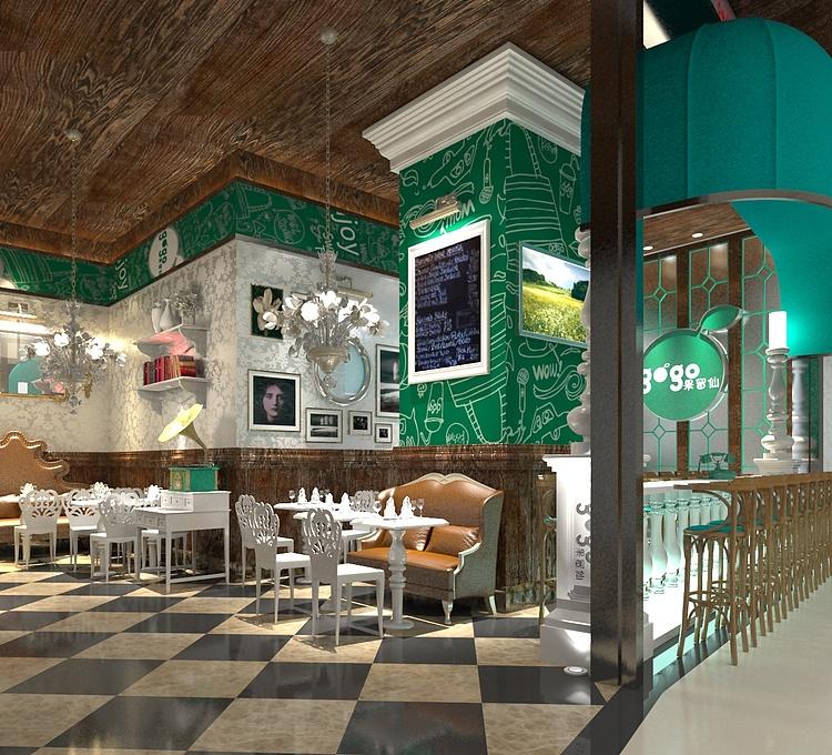 简欧创意餐厅模型