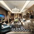 高精度后现代客厅3d模型