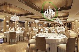 现代中式食堂整体模型