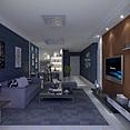 原创高精度现代静谧客厅3d模型