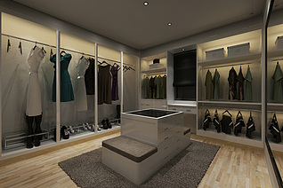 服装专卖店工装模型