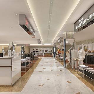 商场服装专卖店整体模型