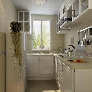 小户型厨房整体模型