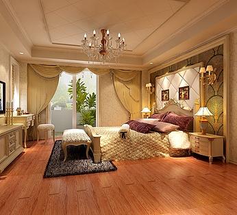 欧式卧室背景墙设计