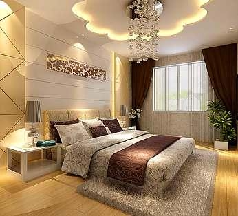 卧室花型吊顶