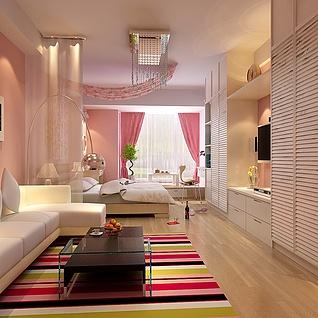 客厅卧室整体模型