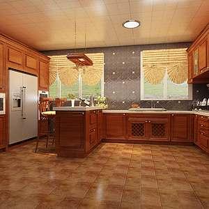 开放式厨房家装模型