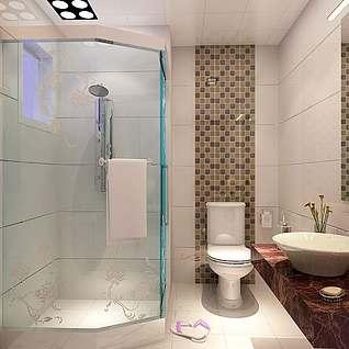 卫生间淋浴整体模型