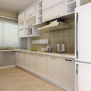 现代厨房效果整体模型