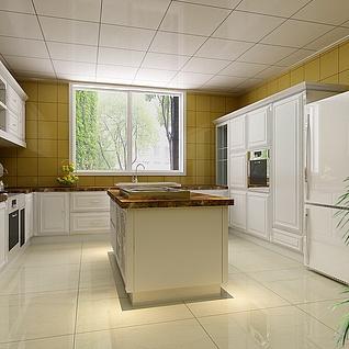 整体厨房整体模型