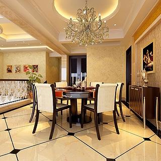 阁楼餐厅整体模型