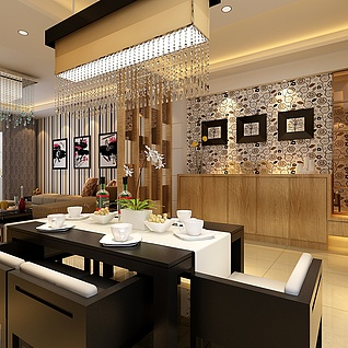 餐廳家裝模型