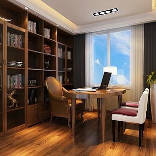 书房整体模型
