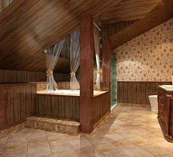 古典卫生间效果图