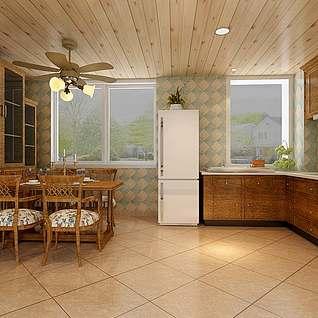 开放式厨房整体模型